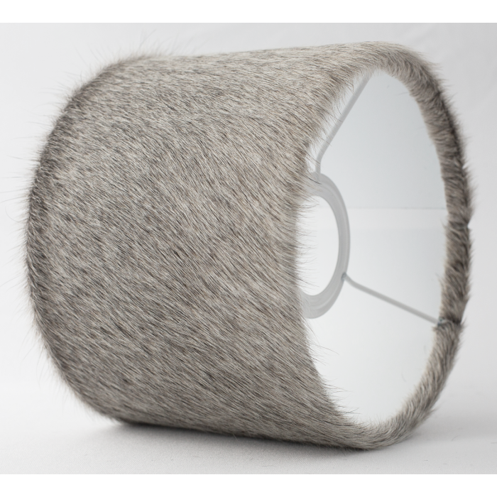 Cowhide lampshade grey