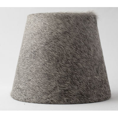 Conical cowhide lampshade grey
