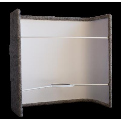 Applique carrée laine gris moyen