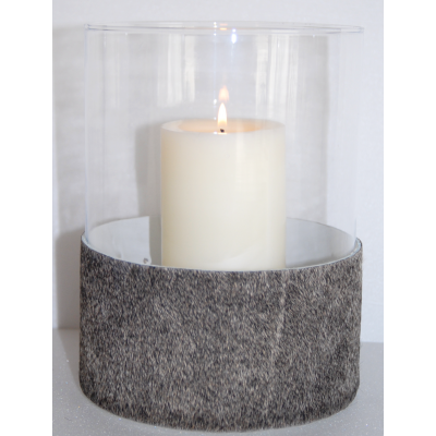 Candle holder gray cow