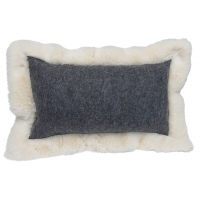 Coussin Baikal rectangle anthracite