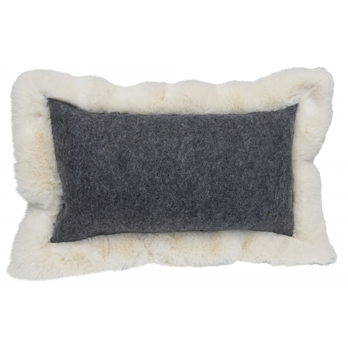 Cushion Baikal rectangle anthracite