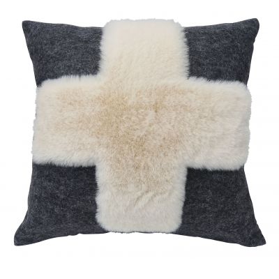 Coussin Cervin anthracite